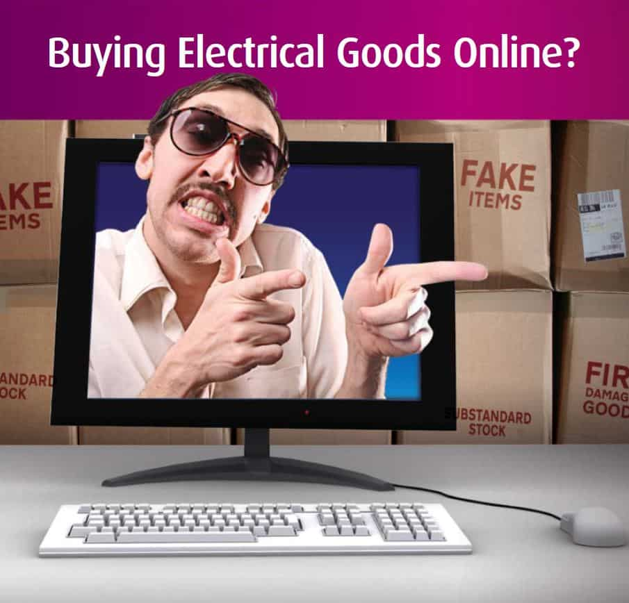 Buying electrical goods online