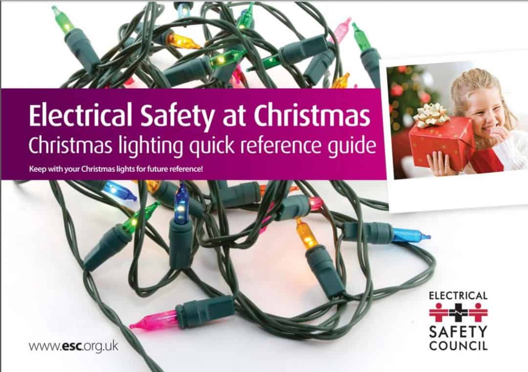 Christmas lights – keep them safe!