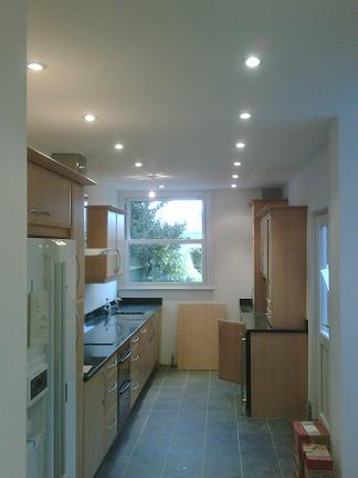 Additional lighting in the kitchen