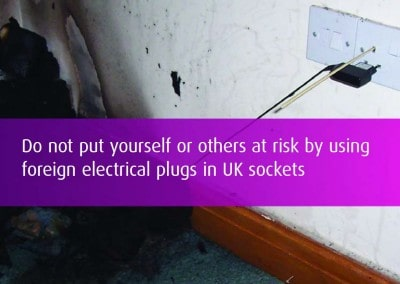 Making foreign appliances safe in the UK